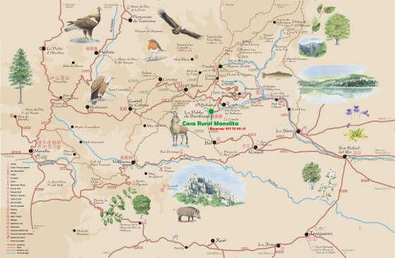 mapa rutas tinença